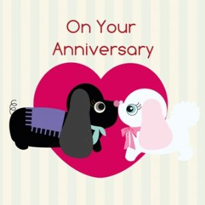 On Your Anniversary Card - Two Dogs